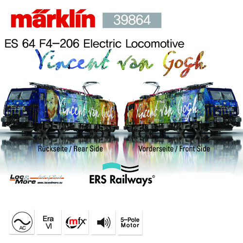 Marklin 39864 Electric locomotive ES 64 F4-206