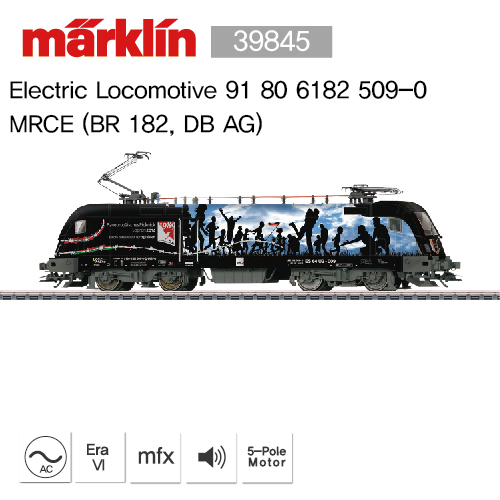 [B급 중고 / Box 없음] Marklin 39845 Electric Locomotive 91 80 6182 509-0,MRCE (BR 182, DB AG)