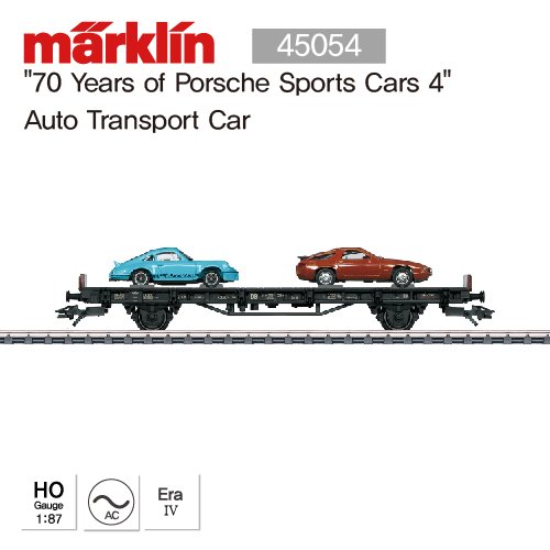 "MARKLIN 45054 ""70 Years of Porsche Sports Cars 4"" Auto Transport Car"