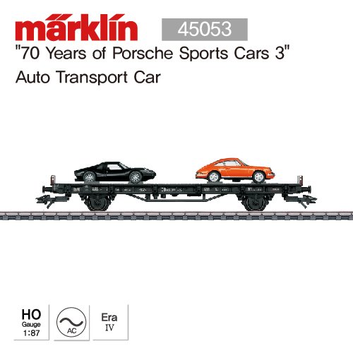 "MARKLIN 45053 ""70 Years of Porsche Sports Cars 3"" Auto Transport Car"