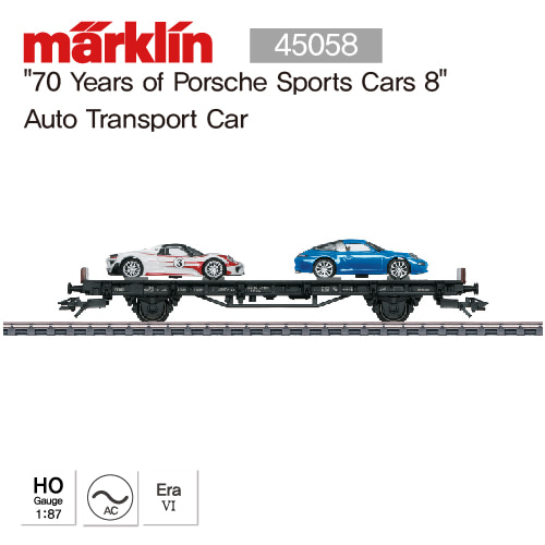 "MARKLIN 45058 ""70 Years of Porsche Sports Cars 8"" Auto Transport Car"