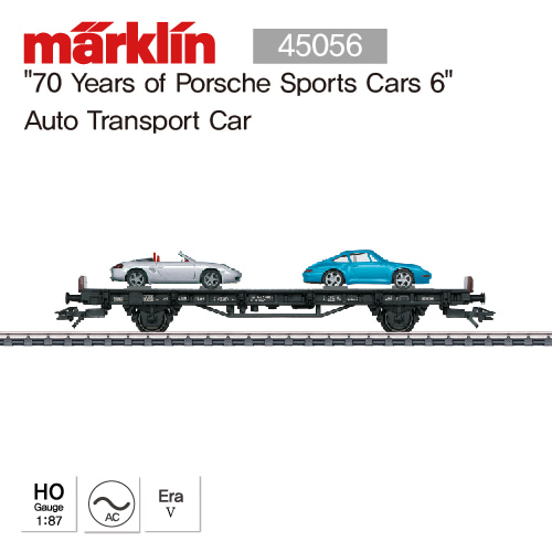 "MARKLIN 45056 ""70 Years of Porsche Sports Cars 6"" Auto Transport Car"