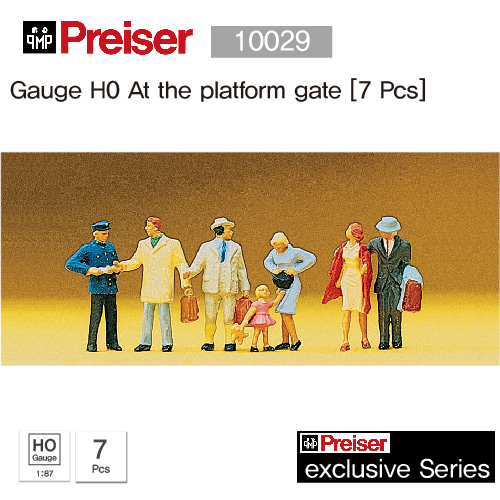 Preiser 10029 Gauge H0 At the platform gate