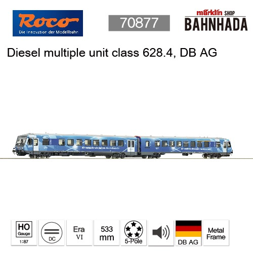 ROCO 78077 - Diesel multiple unit class 628.4, DB AG, DCC SOUND