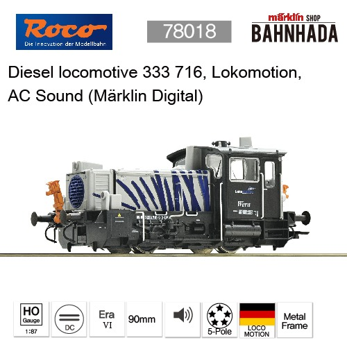 ROCO 78018 Diesel locomotive 333 716, Lokomotion, AC Sound