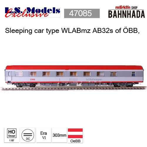 LSmodels 47085 Sleeping car type WLABmz AB32s of ?BB,