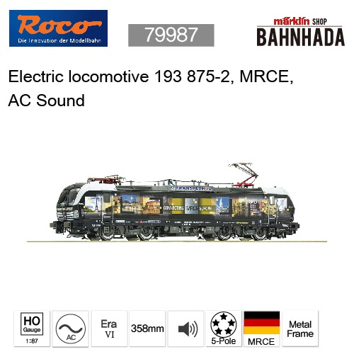 ROCO 79987 Electric locomotive 193 875-2, MRCE, AC Sound