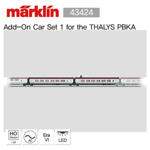 Marklin 43424 Add-On Car Set 1 for the THALYS PBKA