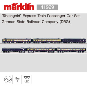 "[전시상품] MARKLIN 41929 ""Rheingold"" Express Train Passenger Car Set"