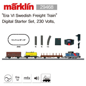 "Marklin 29468 ""Era VI Swedish Freight Train"" Digital Starter Set. 230 Volts."