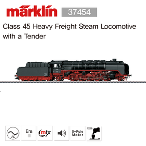 MARKLIN 37454 Class 45 Heavy Freight Steam Locomotive with a Tender