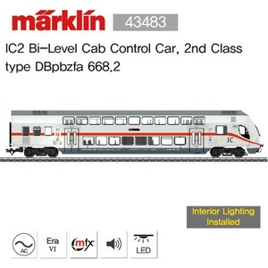 (12월 입고예정)Marklin 43483 IC2 Bi-Level Cab Control Car, 2nd Classtype DBpbzfa 668.2