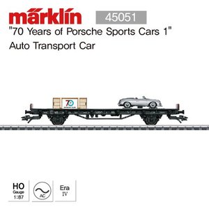 "MARKLIN 45051 ""70 Years of Porsche Sports Cars 1"" Auto Transport Car"