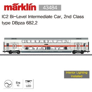 Marklin 43484 IC2 Bi-Level Intermediate Car, 2nd Class type DBpza 682.2 [재고 극 소량: 2 EA]
