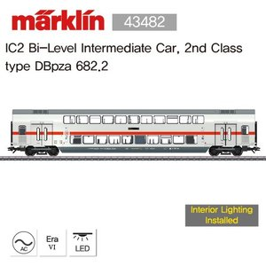 Marklin 43482 IC2 Bi-Level Intermediate Car, 2nd Class type DBpza 682.2 [재고 극 소량: 2EA]