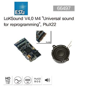 "ESU 64497 LokSound V4.0 M4""Universal sound for reprogramming"", PluX22"