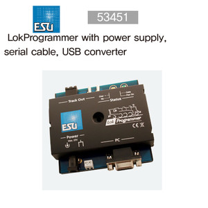 ESU 53451 LokProgrammer with power supply, serial cable, USB converter