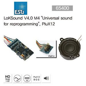 "ESU 65400 LokSound V4.0 M4""Universal sound for reprogramming"", PluX12"