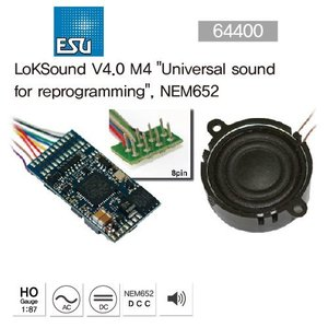 "ESU 64400 LokSound V4.0 M4""Universal sound for reprogramming"", NEM652"