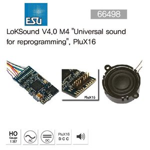 "ESU 64498 LokSound V4.0 M4""Universal sound for reprogramming"", Plux 16"