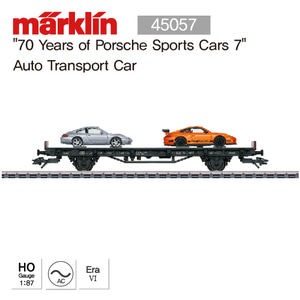 "MARKLIN 45057 ""70 Years of Porsche Sports Cars 7"" Auto Transport Car"