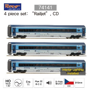 "ROCO HO 74141 3 piece set: ""Railjet"", CD AC"