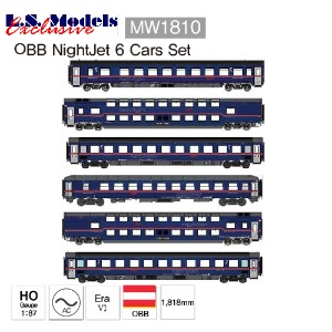 LS MODELS MW 1810 NIGHTJET OBB Berlin-Zurich 6 Cars Set