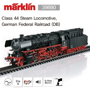 MARKLIN 39880 Class 44 Steam Locomotive, German Federal Railroad (DB) 메르클린