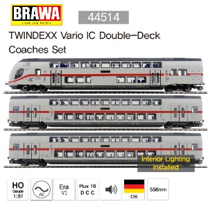 BRAWA 44514 TWINDEXX Vario ICDouble-Deck Coaches Set