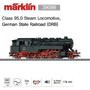MARKLIN 39098 Class 95.0 Steam Locomotive, German State Railroad (DRB)