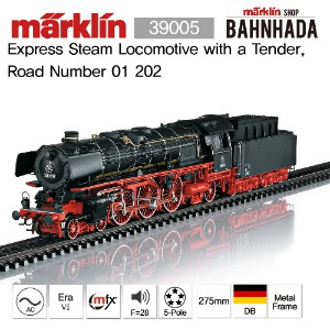 MARKLIN 39005 Express Steam Locomotive with a Tender, Road Number 01 202 메르클린