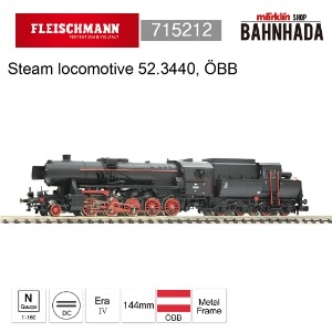 Fleischmann 715212 Steam locomotive 52.3440, ÖBB