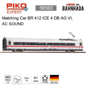 PIKO 58593 Matching Car BR 412 ICE 4 DB AG VI, AC SOUND