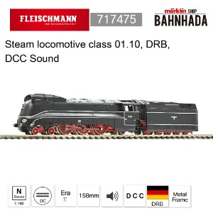 Fleischmann 717475 Steam locomotive class 01.10, DRB, DCC SOUND
