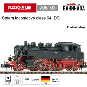 Fleischmann 706103 Steam locomotive class 64, DR
