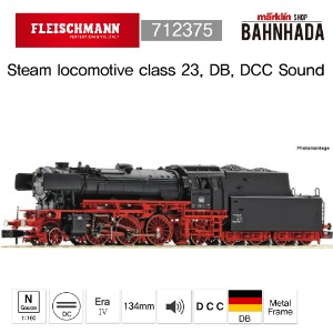 Fleischmann 712375 Steam locomotive class 23, DB, DCC