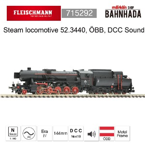 Fleischmann 715292 Steam locomotive 52.3440, ÖBB, DCC SOUND