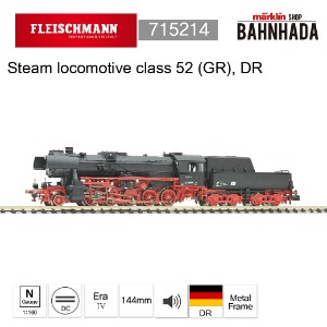 Fleischmann 715214 Steam locomotive class 52 (GR), DR