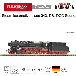 Fleischmann 714474 Steam locomotive class 043, DB DCC SOUND