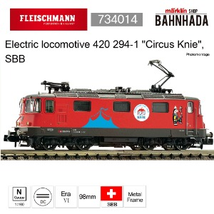 "Fleischmann 734014 Electric locomotive 420 294-1 ""Circus Knie"", SBB"