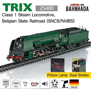 TRIX 25480 Class 1 Steam Locomotive, Belgian State Railroad (SNCB/NMBS)