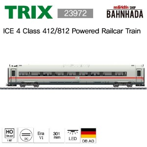 TRIX 23972 ICE 4 Class 412/812 Powered Railcar Train, 1 Cars Add-on Set