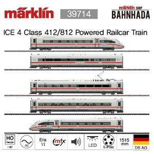 MARKLIN 39714 ICE 4 Class 412/812 Powered Railcar Train, 5 Cars Basic Set