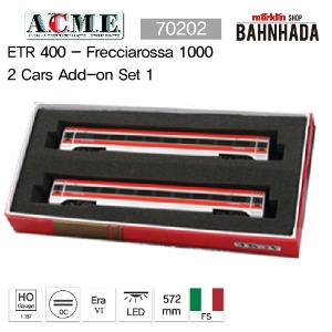 A.C.M.E 70202 ETR 400 - Frecciarossa 1000 2 Cars Add-on Set 1
