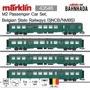 MARKLIN 43546 M2 Passenger Car Set, Belgian State Railways (SNCB/NMBS)