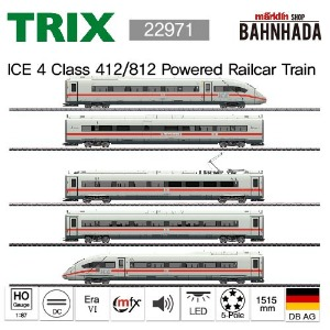 TRIX 22971 ICE 4 Class 412/812 Powered Railcar Train, 5 Cars Basic Set