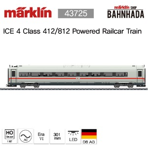 MARKLIN 43726 ICE 4 Class 412/812 Powered Railcar Train, 1 Cars Add-on Set