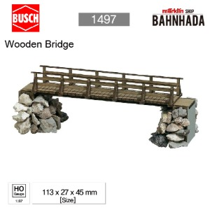 BUSCH 1497 Wooden Bridge