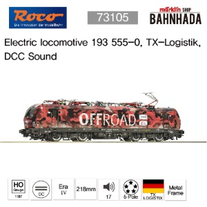 ROCO 73105 Electric locomotive 193 555-0, TX-Logistik DCC Sound