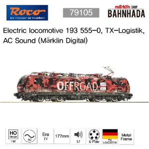 ROCO 79105 Electric locomotive 193 555-0, TX-Logistik AC Sound